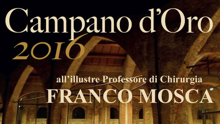 CAMPANO D'ORO 2016 AL PROFESSOR MOSCA